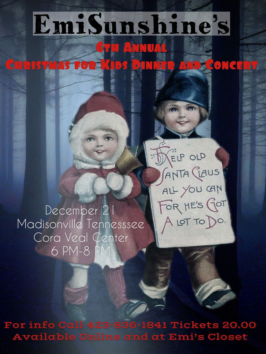 6th Annual Christmas Dinner And concert