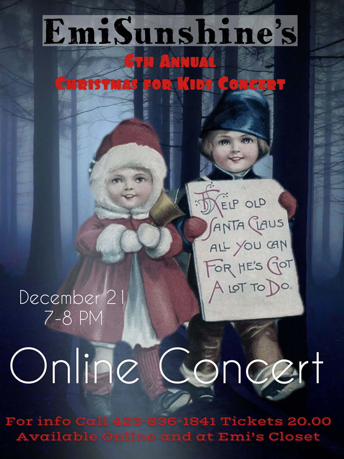 6th Annual (Live Stream Only) Christmas Concert