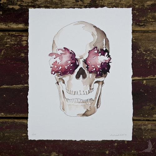 St. Stephen Skull & Fleurs Giclée 00005