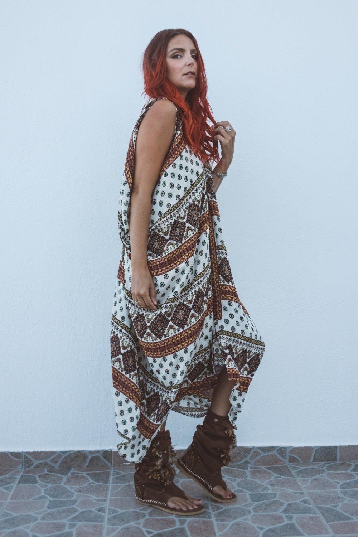Harem Dress - Dune Print 00002