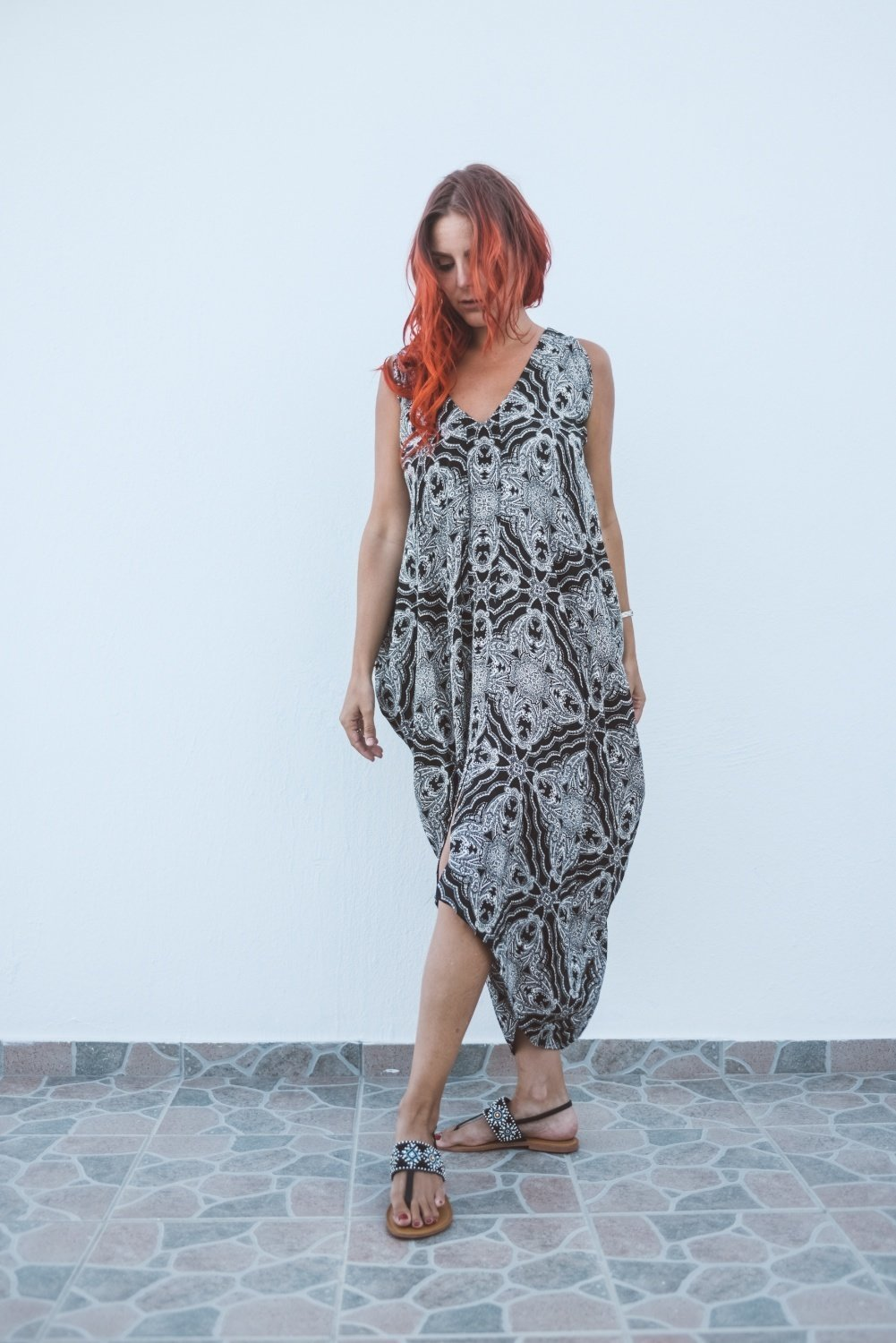 ​Harem Dress - Starlight Print 00003