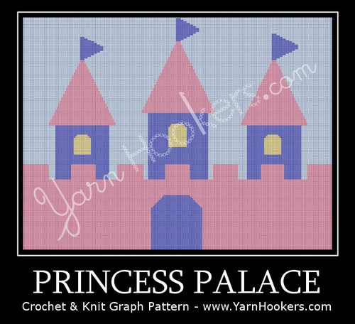Princess Palace - Afghan Crochet Graph Pattern Chart by Yarn Hookers.com