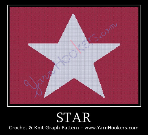 Star - Afghan Crochet Graph Pattern Chart by Yarn Hookers.com