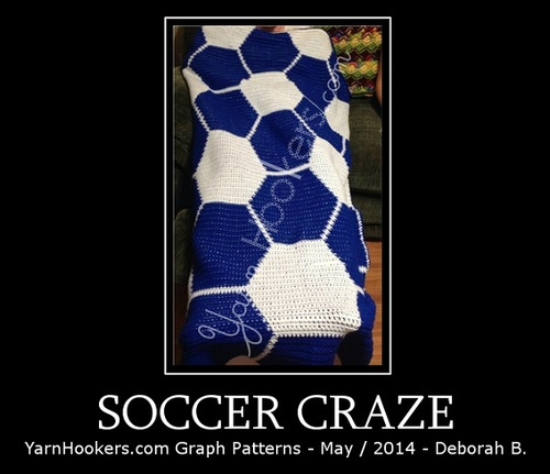 Soccer Craze - Afghan Crochet Graph Pattern Chart by Yarn Hookers.com