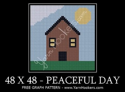 PEACEFUL DAY - Afghan Crochet Graph Pattern Chart by Yarn Hookers.com