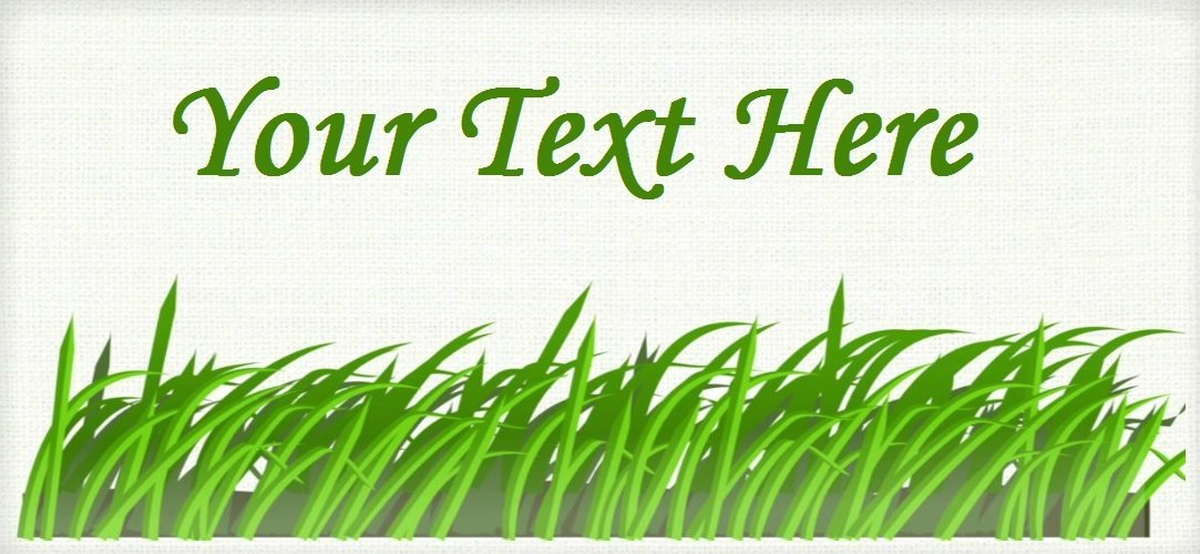 "Blades of Grass - ""Iron on"" or ""Sew In"" - 100% Cotton Fabric Labels (White)"