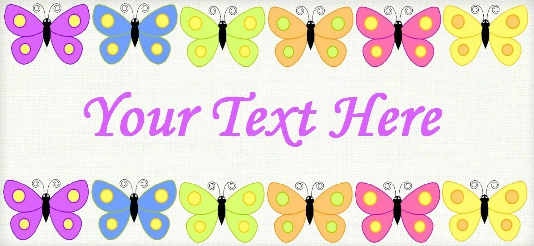 "Butterfly Avenue - ""Iron on"" or ""Sew In""  - 100% Cotton Fabric Labels (White)"
