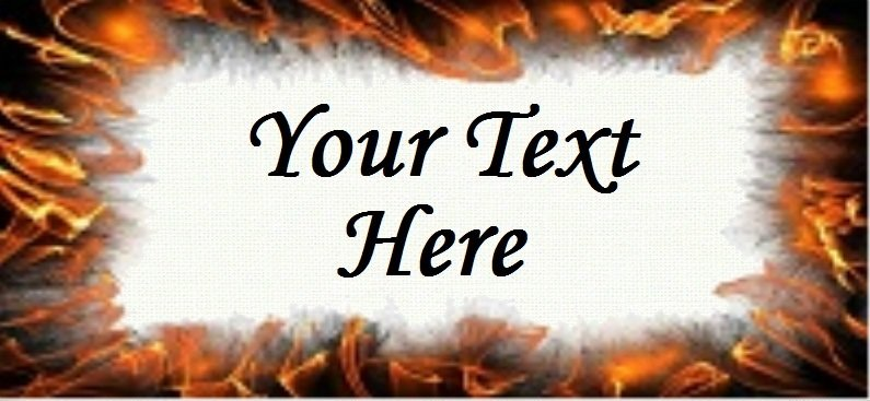 "Orange Fire Flame - ""Iron on"" or ""Sew In"" - 100% Cotton Fabric Labels (White)"