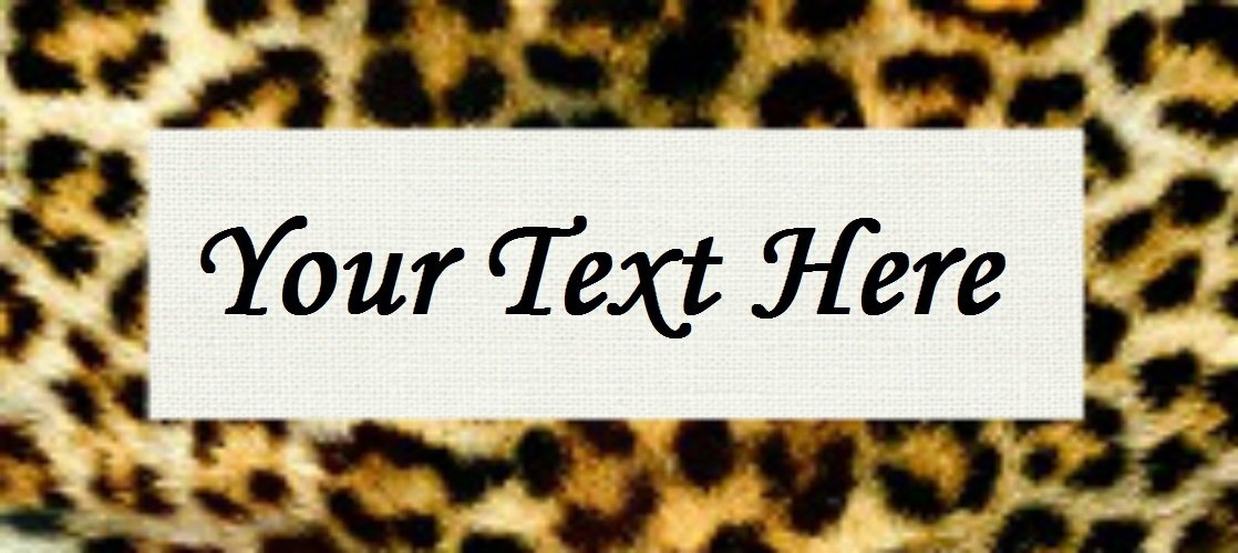 "Leopard Print - ""Iron on"" or ""Sew In"" - 100% Cotton Fabric Labels (White)"