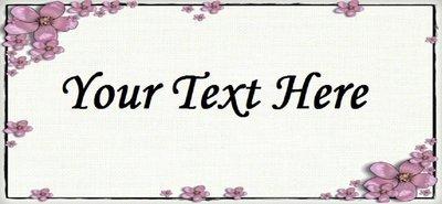 Pink Flower Frame -