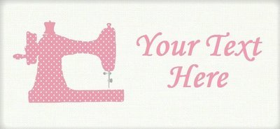 Pink Polka Dot Sewing Machine -