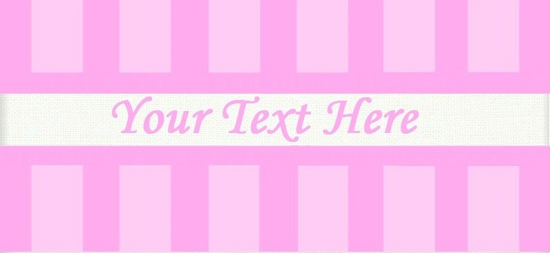 "Pink Stripes - ""Iron on"" or ""Sew In"" - 100% Cotton Fabric Labels (White)"