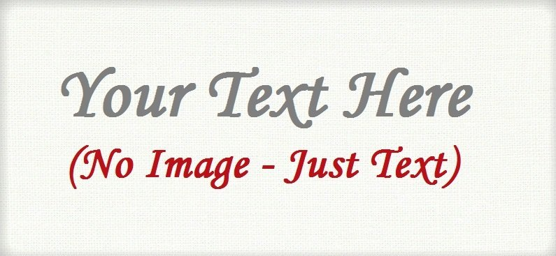 "Text Only - ""Iron on"" or ""Sew In"" - 100% Cotton Fabric Labels (White)"