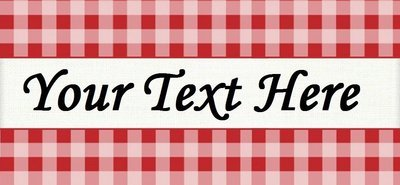 Red Picnic Plaid -