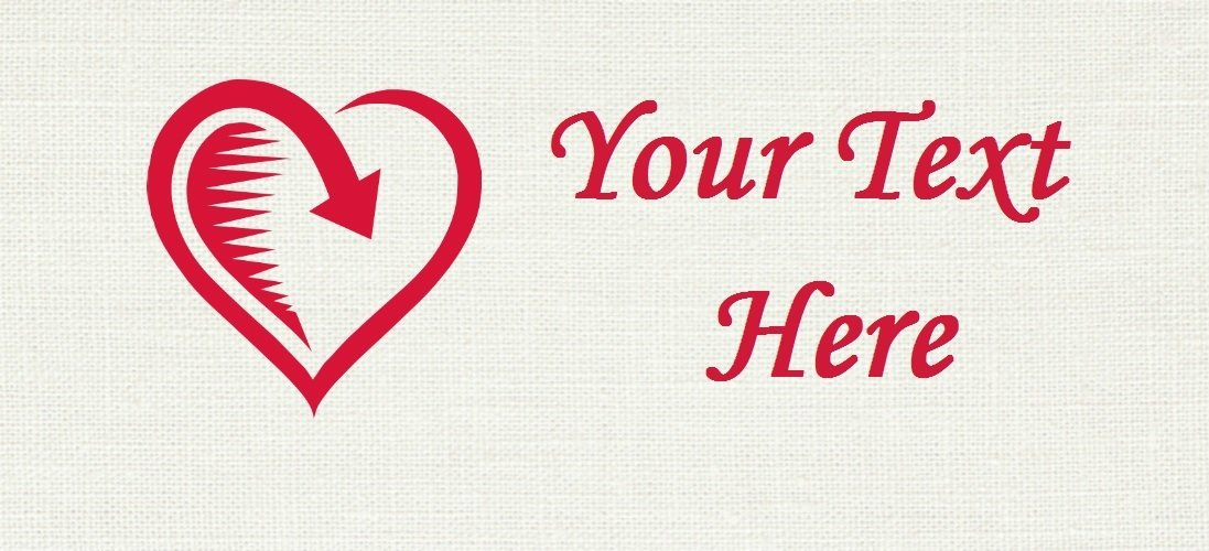 """Returned Love - """"Iron on"""" or """"Sew In"""" - 100% Cotton Fabric Labels (White)"""