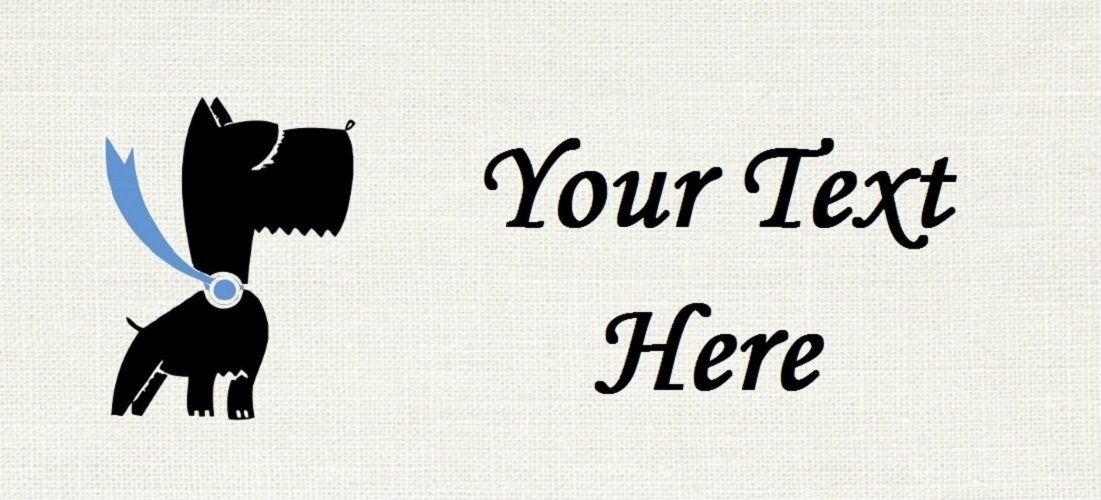 """Super Pooch - """"Iron on"""" or """"Sew In"""" - 100% Cotton Fabric Labels (White)"""