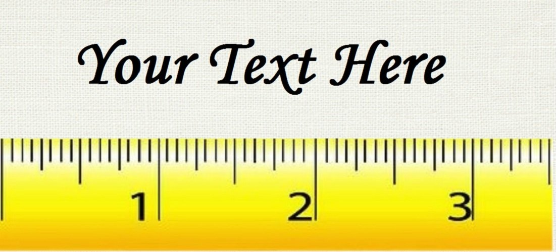 "Tape Measure - ""Iron on"" or ""Sew In""  - 100% Cotton Fabric Labels (White)"