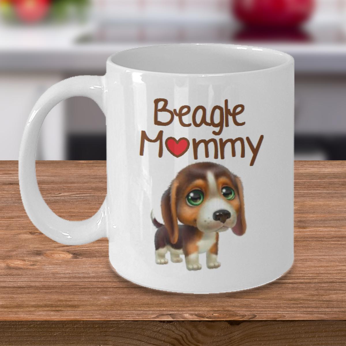 Beagle Mommy - Curse Mug - Coffee Cup Mug - Tea Mug - Ceramic Mug Gift - Coffee Lover - Gift for Crafty Friend