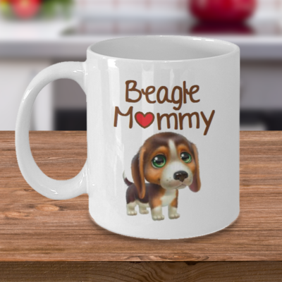 Beagle Mommy - Curse Mug - Coffee Cup Mug - Tea Mug - Ceramic Mug Gift - Coffee Lover - Gift for Crafty Friend