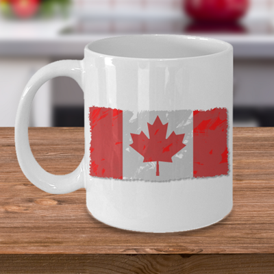 Canadian National Flag - Coffee Cup Mug - Tea Mug - Ceramic Mug Gift - Coffee Lover - Gift for Crafty Friend