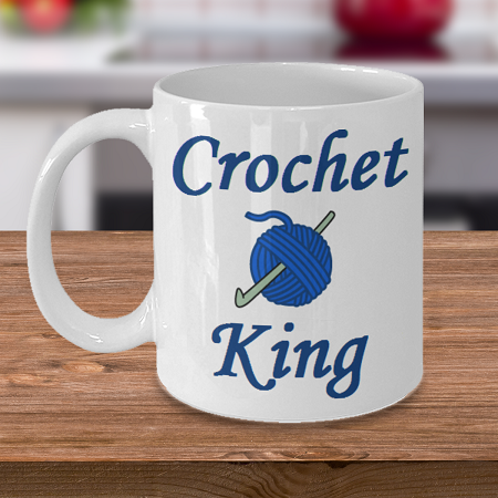 Crochet King- Curse Mug - Coffee Cup Mug - Tea Mug - Ceramic Mug Gift - Coffee Lover - Gift for Crafty Friend