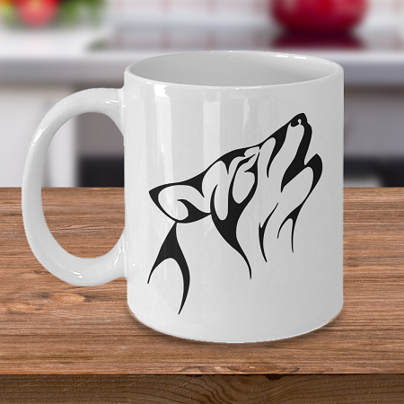 Howling Wolf - Curse Mug - Coffee Cup Mug - Tea Mug - Ceramic Mug Gift - Coffee Lover - Gift for Crafty Friend