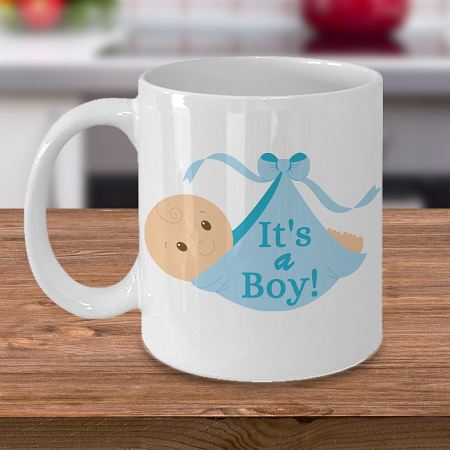 It's a Boy - Curse Mug - Coffee Cup Mug - Tea Mug - Ceramic Mug Gift - Coffee Lover - Gift for Crafty Friend