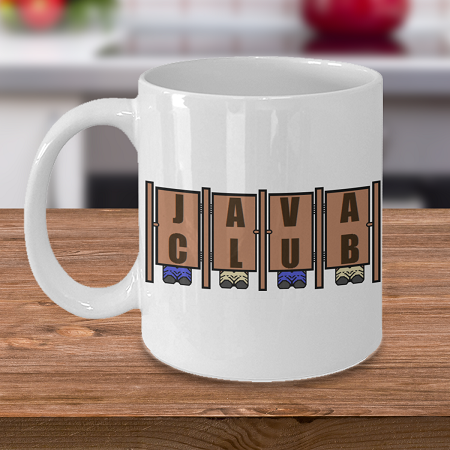 Java Club - Coffee Cup Mug - Tea Mug - Ceramic Mug Gift - Coffee Lover - Gift for Crafty Friend