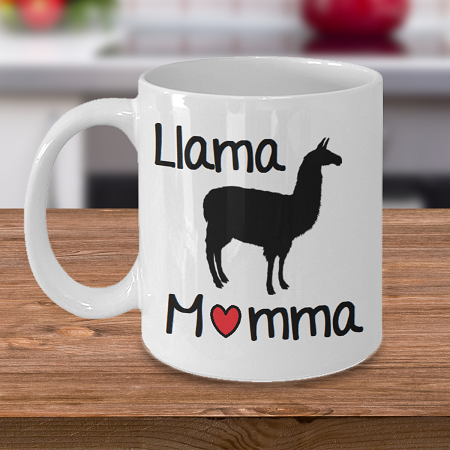 Llama Momma - Tea Mug - Ceramic Mug Gift - Coffee Lover - Gift for Crafty Friend