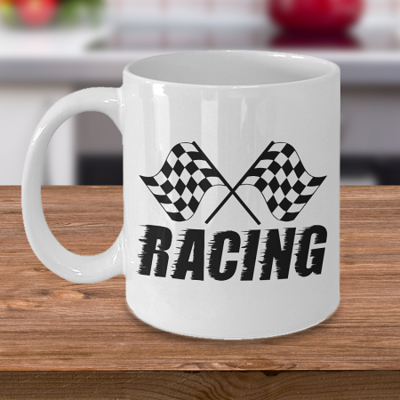 Racing Flag - Tea Mug - Ceramic Mug Gift - Coffee Lover - Gift for Crafty Friend