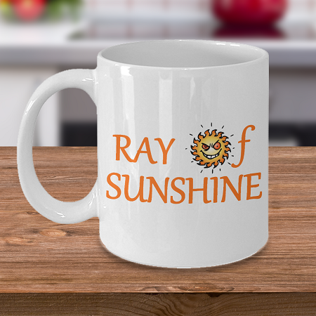 Ray of Sunshine - Tea Mug - Ceramic Mug Gift - Coffee Lover - Gift for Crafty Friend