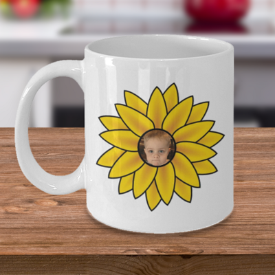 Sunflower Baby  - Tea Mug - Ceramic Mug Gift - Coffee Lover - Gift for Crafty Friend