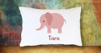 Pink Girl Elephant - Standard Pillow Case/Customized Pillow Case/Personalized Pillow Case/Photo Pillow Case/Decor Pillow Case