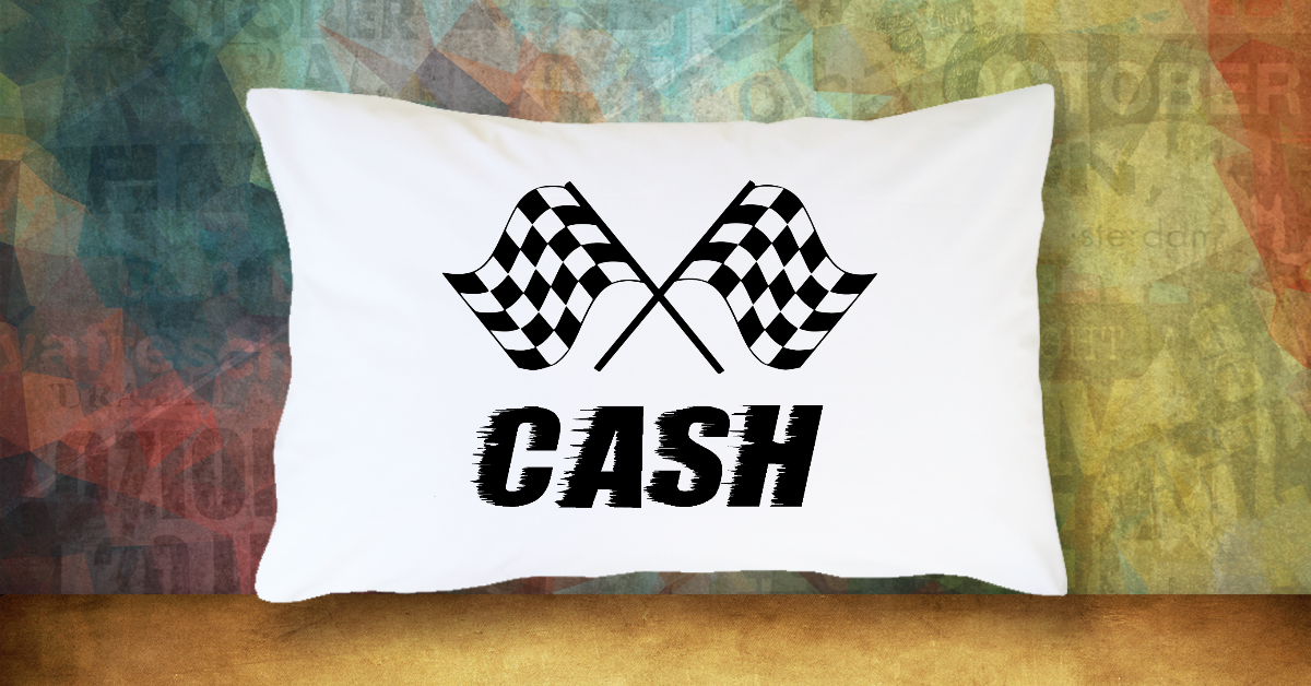 Racing Flags with Name - Standard Pillow Case/Customized Pillow Case/Personalized Pillow Case/Photo Pillow Case/Decor Pillow Case