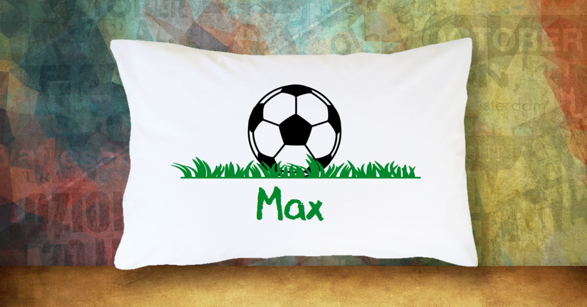 Soccer Ball with Name - Standard Pillow Case/Customized Pillow Case/Personalized Pillow Case/Photo Pillow Case/Decor Pillow Case
