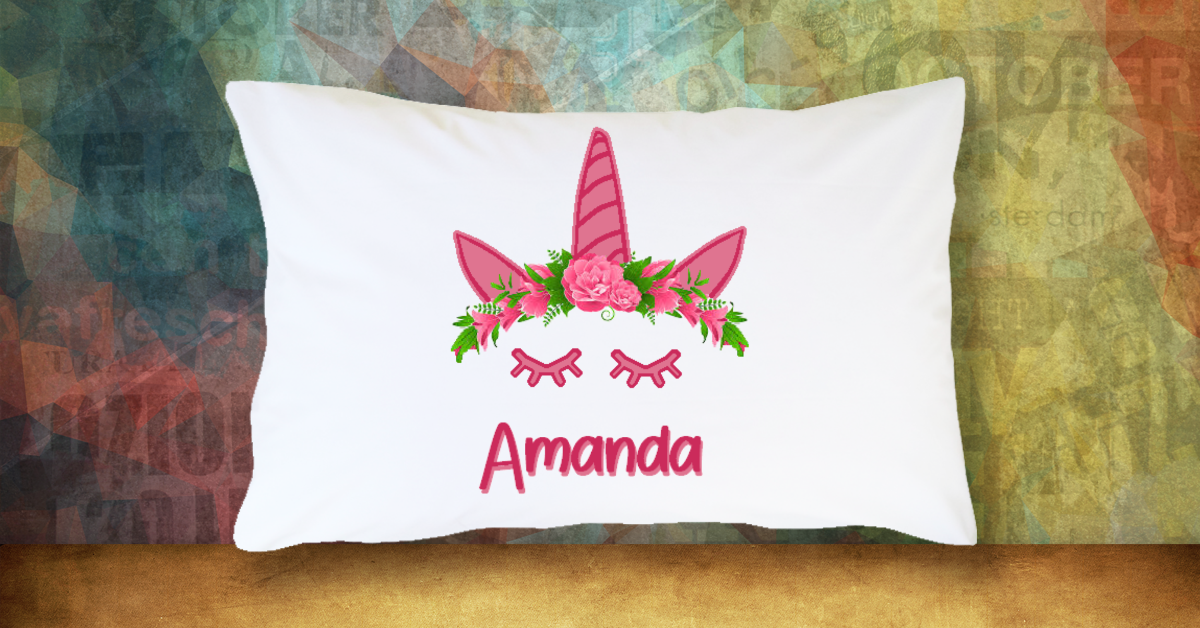 Unicorn with Name - Standard Pillow Case/Customized Pillow Case/Personalized Pillow Case/Photo Pillow Case/Decor Pillow Case