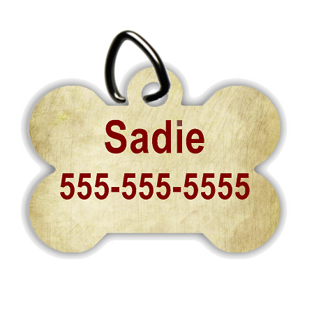 Antique Paper - Personalized Pet/Dog Tag - Dog Collar Tag - Pet ID Tag