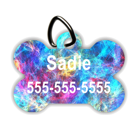 Aurora Borealis - Personalized Pet/Dog Tag - Dog Collar Tag - Pet ID Tag