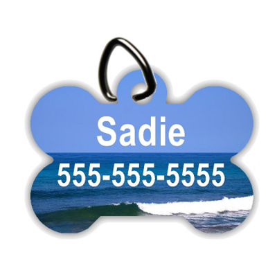 Beachfront Property - Personalized Pet/Dog Tag - Dog Collar Tag - Pet ID Tag
