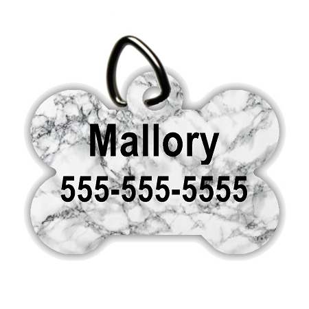 Black Marble - Personalized Pet/Dog Tag - Dog Collar Tag - Pet ID Tag