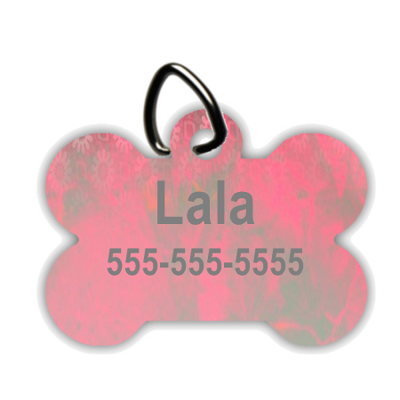 Pink Shimmer - Personalized Pet/Dog Tag - Dog Collar Tag - Pet ID Tag