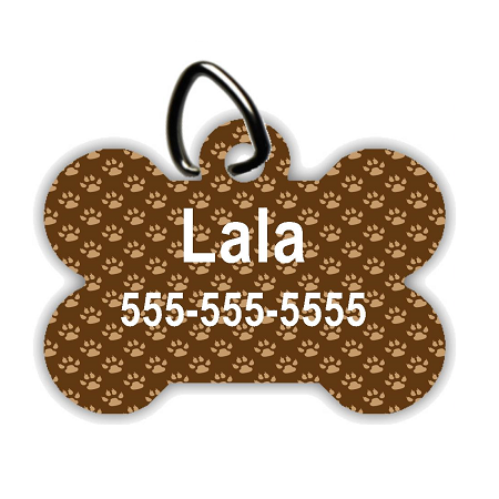 Puppy Paws - Personalized Pet/Dog Tag - Dog Collar Tag - Pet ID Tag