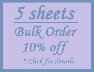 Bulk Order 5 Sheet Discount - White Custom Printed Labels / Sew in Clothing labels / Personalized Fabric Labels - For Crochet, Knit, Sewing