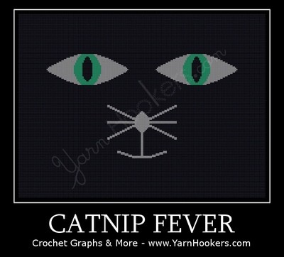 Catnip Fever - Afghan Crochet Graph Pattern Chart by Yarn Hookers