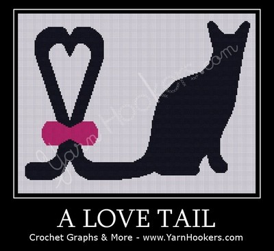 A Love Tail - Afghan Crochet Graph Pattern Chart by Yarn Hookers