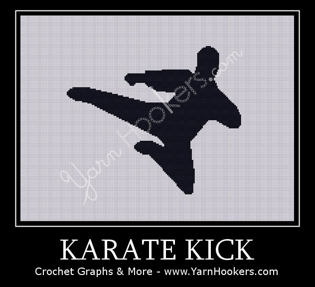 Karate Kick - Afghan Crochet Graph Pattern Chart by Yarn Hookers
