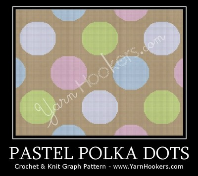 Pastel Polka Dots - Afghan Crochet Graph Pattern Chart by Yarn Hookers.com