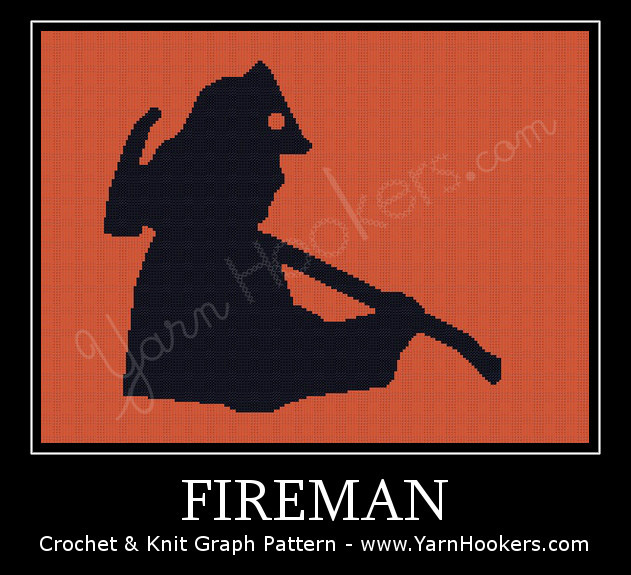 Fireman - Afghan Crochet Graph Pattern Chart by Yarn Hookers.com