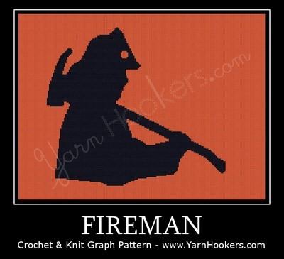 Fireman - Afghan Crochet Graph Pattern Chart by Yarn Hookers.com