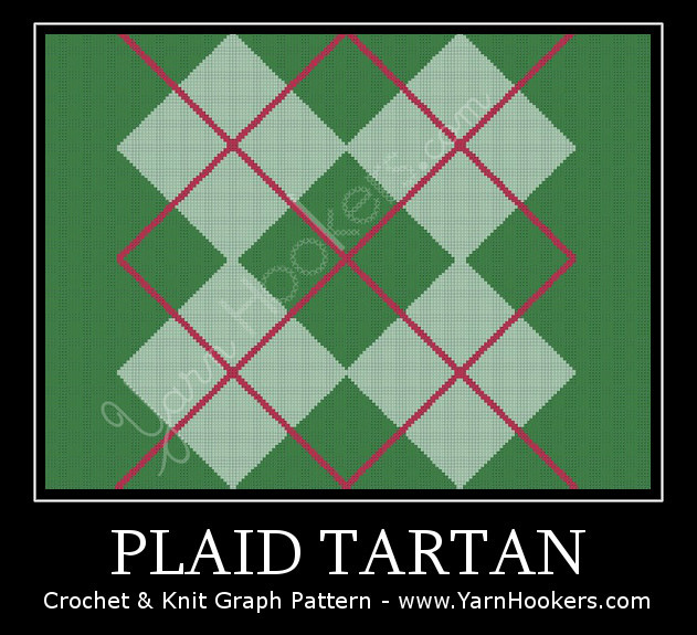Plaid Tartan - Afghan Crochet Graph Pattern Chart by Yarn Hookers.com